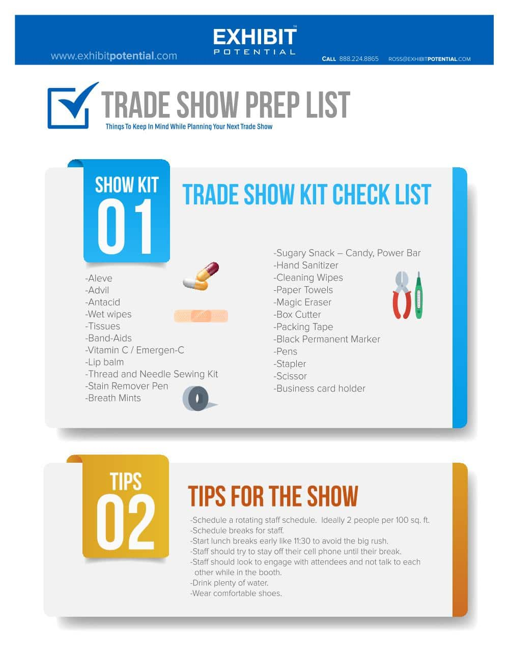 Trade Show Prep List